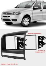 Moldura 2din Preta Fiat Palio Idea Siena Strada P Dvd 2 Din - Engekar