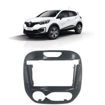 """Moldura 2Din Preta Renault Captur Ar Digital 2018 em diante 9"""" Expex - EPX9RN002 -"""