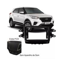 Moldura Aparelho de Som Painel Dvd Rádio 2Din Hyundai Creta Black Piano - Autoplast