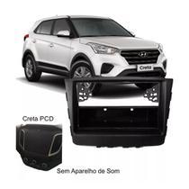 Moldura Aparelho de Som Painel Radio 1Din Hyundai Creta Black Piano - Autoplast
