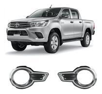 Moldura Aplique Cromado Farol De Milha Hilux 2016 17 2018 - Toyota