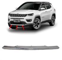 Moldura Aplique Grade friso Frontal Cromado Jeep Compass -