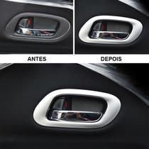 Moldura Aplique Puxador Interno da Porta Cromado ABS HRV - Honda