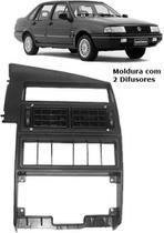 Moldura Central Radio c/ Mecanismo e Difusores Santana 99... - Autoplast