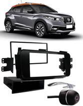 Moldura De Painel 1 Din e 2 Din Nissan Kicks Para Cd Dvd 1 Din e 2 Dins - Padrão Original + Câmera de Ré - Autoplast