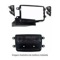 Moldura de Painel 1Din Renault Duster / Sandero / Oroch / Logan / Captur / Kwid- Cor Preto - Autoplast