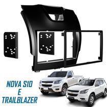 Moldura De Painel 2 Din Chevrolet Nova S10  2012/2013  - Para CD DVD 2 Dins - Padrão Original - Autoplast