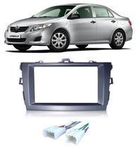 Moldura De Painel 2 Din Toyota Corolla  2009 á  2013 Para CD DVD 2 Dins - Padrão Original + Conector ISO - Autoplast