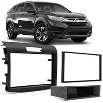 Moldura do Painel 2 Din 1 Din Japonês Chinês Honda CR-V 12 a 18 Grafite para Player DVD Multimídia - Mpp