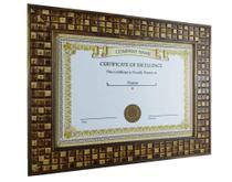 Moldura Nobre Luxo Com Vidro Diploma Certificado A4 21X30 Mosaico - Camila Artesanatos -
