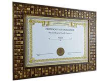 Moldura Nobre Luxo Com Vidro Diploma Certificado A4 21X30 Mosaico - Camila Artesanatos