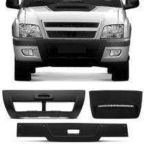 Moldura Overbumper Para-choque S10 Blazer 01 a 11 + Scoop + Aplique Tampa Traseira - Kit Prime