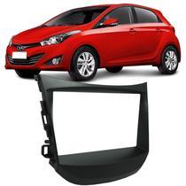 Moldura Painel 2 Din Som Dvd Hyundai Hb20 Com Som Original 2012 à 2018 Preta - S/M