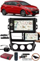 Moldura Painel 2 Din Toyora Yaris 2018 2019 + DVD Player E-Tech + Câmera Ré + Sintonizador TV Digital -