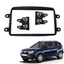 Moldura Painel Duster Expression 2DIN Preto Autoplast -