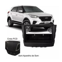 Moldura Para Aparelho de Som Painel Central Radio 1Din Hyundai Creta Preto - Autoplast