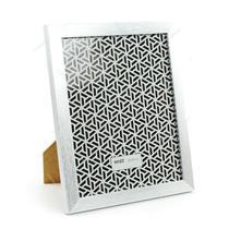 Moldura prata escovado 13x18cm luxo porta retrato com vidro foto painel namorados familia - Gimp