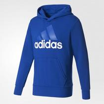 Moletom Adidas Essentials Linear Po Ft Masculino - Azul