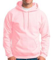 Moletom Masculino e Feminino Canguru Rosa Liso Blusa de Frio Com capuz - Kazup