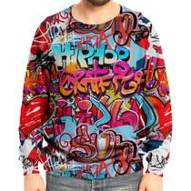 Moletom Raglan Unissex Grafite Hip Hop Grafiti - Over fame