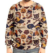 Moletom Raglan Unissex Halloween - Over fame