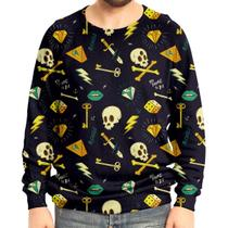 Moletom Raglan Unissex Hipster Tattoo - Over fame