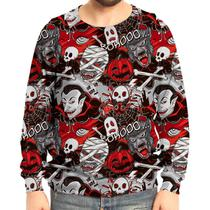Moletom Raglan Unissex Monstros Do Horror - Over fame