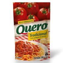 Molho de Tomate Quero Tradicional Sachê 240g Embalagem com 28 Unidades -