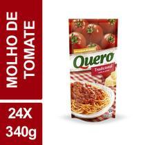 Molho Tomate Tradicional Quero 340g Sachet Kit 24un -