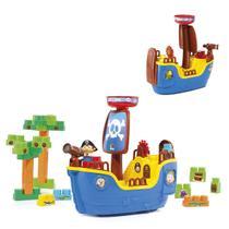 Molto Blocks Navio Pirata Azul 8002 - Cardoso Toys -