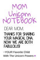 Mom Unicorn Notebook - Inge baum