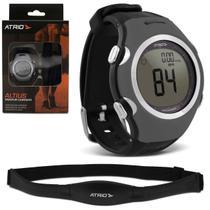 Monitor Cardíaco Smart Run Atrio HC008 Preto e Cinza Relógio Esportivo Contador Calorias Com Cinta -