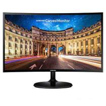 "Monitor Curvo Samsung 24"" FHD, HDMI, VGA, FreeSync, Preto, Série CF390 -"