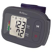 Monitor de Pressão Arterial de Pulso Techline KD-738 Cinza com Display LCD -