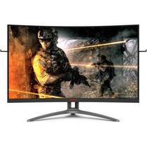 """Monitor Gamer AOC Agon 32"""" Widescreen Curvo 165Hz 1ms FreeSync Premium Preto -"""