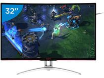 "Monitor Gamer AOC LCD Curvo 31,5"" Full HD - Widescreen Agon"