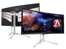 Monitor gamer entusiasta aoc ag352ucg 35 led 3440x1440 ultra wide 120hz nvidia gsync hdmi dp