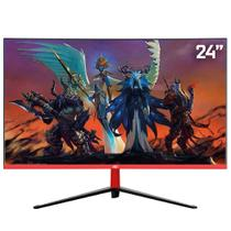 "Monitor Gamer LED Curvo 24"" 1ms 165hz HQ 24GHQ-Black RGB R3000 Freesync HDMI Display Port PRETO -"