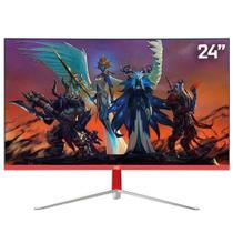 "Monitor Gamer LED Curvo 24"" 1ms 165hz HQ 24GHQ-White RGB R3000 Freesync HDMI Display Port Branco -"
