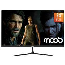 "Monitor Gamer MOOB Flat 24"" 2ms 75Hz Preto -"