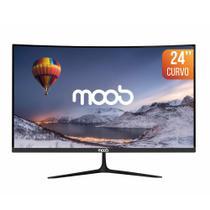 "Monitor LED Full HD 24"" MOOB Curvo Preto -"