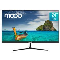 """Monitor LED Full HD 24"""" MOOB Flat Preto -"""