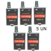 Monitor pessoal de fone mix monitor mm2 passivo kit com 5 -