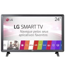 "Monitor TV LED 23.6"" LG Smart 24TL520S-PS Wi-Fi DTV 2 HDMI 1 USB Vesa Preta -"