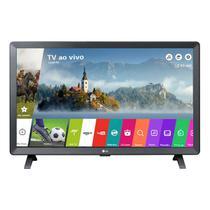 """Monitor TV LED 23.6"""" LG Smart 24TL520S-PS Wi-Fi DTV 2 HDMI 1 USB Vesa Preta -"""