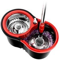 Mop esfregão giratório spin pro master 360 balde e cabo inox - Laspane