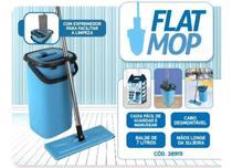 Mop Flat Tirá Pó Esfregão Com Balde Lava E Seca Limpeza - Nobre