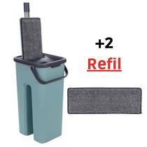Mop Flat Tira Pó Lava e Seca + Refil - 123 Útil
