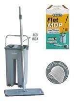 Mop lava e seca flat multiuso vertical c/ balde + 2 refil extra 14870 rayco -