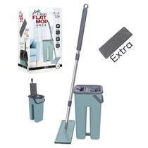Mop Lava E Seca Flat Multiuso Vertical + Refil Extra 123util -